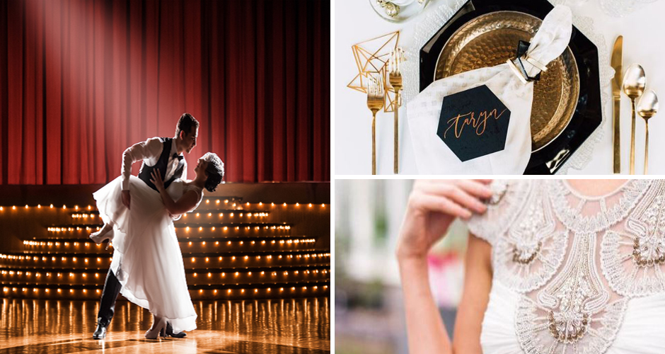 Art Deco wedding styling